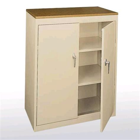 sandusky value line series counter height storage cabinet