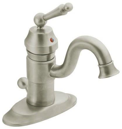 moen traditional bathroom faucet moen s411 waterhill single handle single hole bathroom