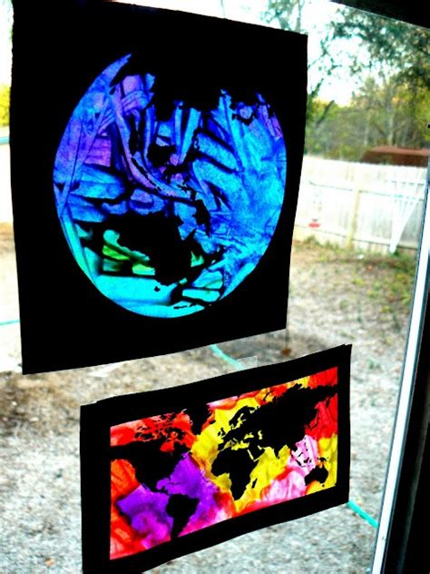 stained glass craft for melted crayon stained glass preschool scavenger hunt