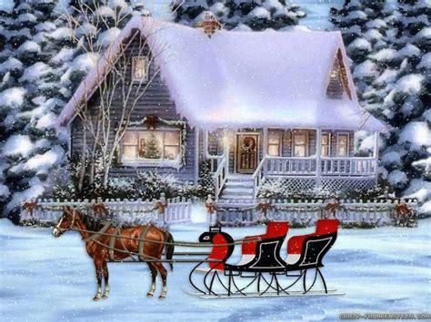 christmas wallpaper with horses horse winter scenes wallpaper wallpapersafari