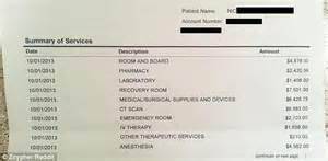 Emergency Room Cost Estimator by 55 000 Bill For Appendicitis Operation Posted On Reddit