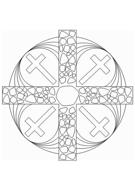 cross mandala coloring pages coloring page mandala cross colouring book images