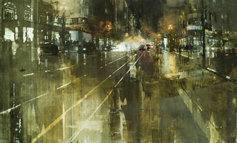 Painting And Cityscapes gritty new cityscapes by mann colossal