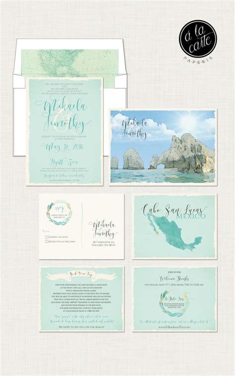 mexico wedding invitations destination wedding invitation cabo san lucas los cabos