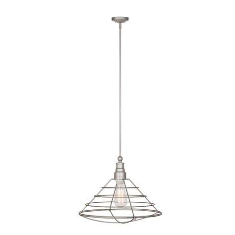 Galvanized Pendant Light Design House Ajax Collection 1 Light Galvanized Indoor Pendant 519660 The Home Depot