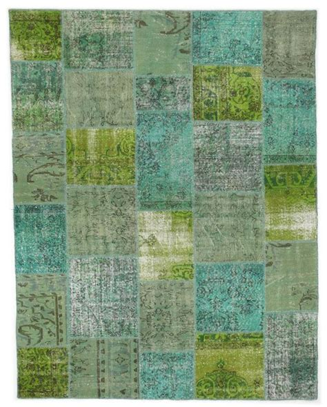 turquoise green rug turquoise and lime green rug patchwork vintage turkish 9 x7