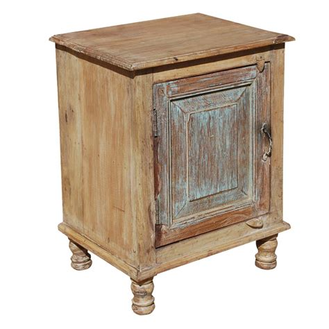 End Table Cabinet by Rustic Farmhouse Reclaimed Wood Stand End Table Cabinet