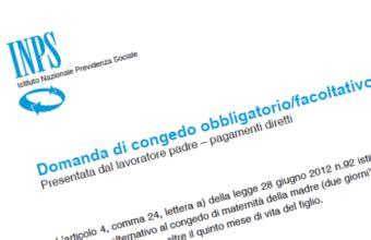inps sedi territoriali congedo obbligatorio e facoltativo padre pagamento