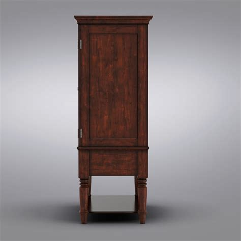 mason media armoire pottery barn mason 3d model