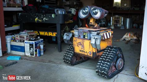 real r2d2 robot for sale making a real life size wall e robot geek week youtube
