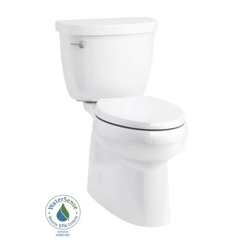kohler cimarron elongated comfort height toilet kohler cimarron comfort height 2 piece 1 28 gpf single