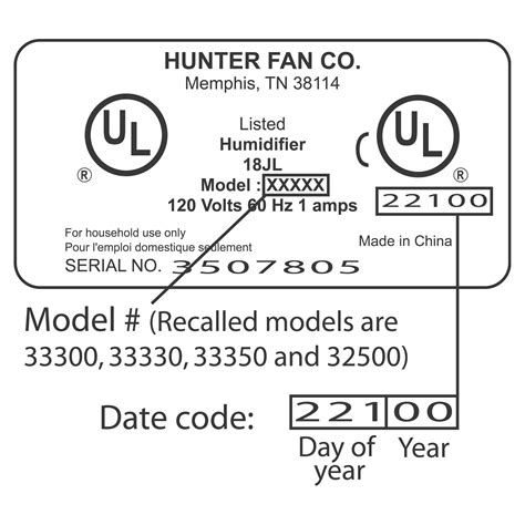hunter fan discount code cpsc hunter fan co announces recall of humidifiers