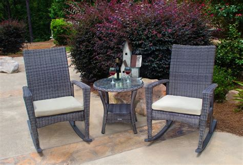 weather patio set   rocking chairs
