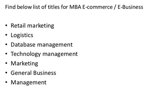 Do I List Professors Mba On Running Title Page project report titles for mba in e commerce and e business