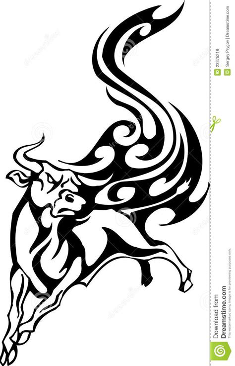 bull in tribal style image stock illustration image