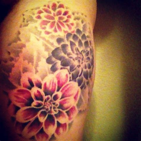no outline tattoo floral colour no outline tat ideas