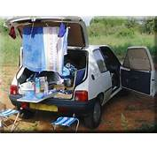 Extreme Car Camping  Camp Shower And Minivan