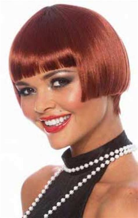 variety of bobs in 1920 short auburn 1920 s bob wig women s red flapper costume wig