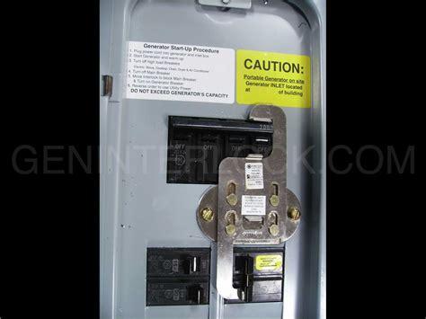 Switch Breaker oem model generator interlock kit general electric ge