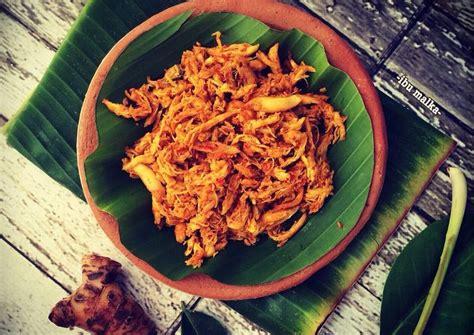 resep ayam suwir pedas ala bali oleh ibu malka cookpad