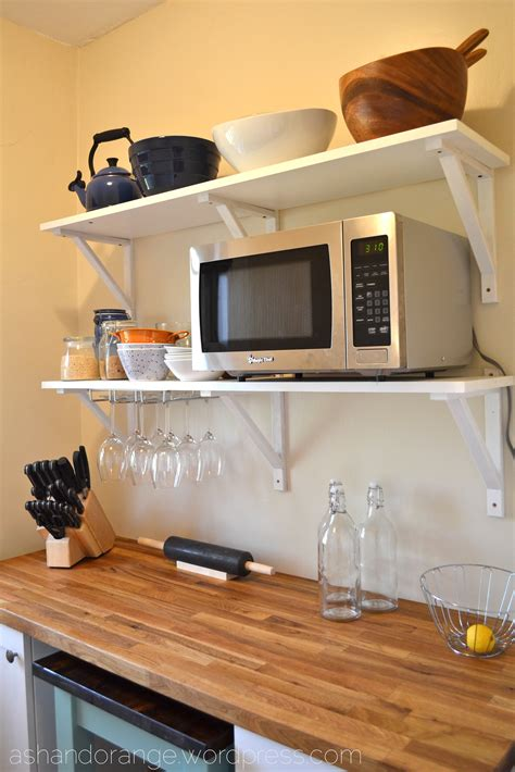 cabinet for microwave oven bar cool small decoration the nook ash and orange