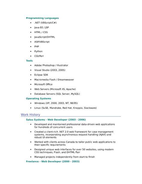 resume format for web designer fresher entry level freshers web designer resume template page 2