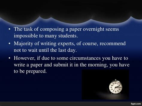 how to write a paper overnight writing a scientific research paper overnight