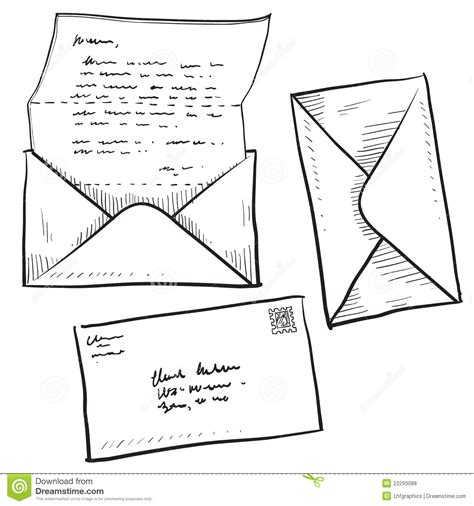 doodle 4 email address letter mail or contact illustration royalty free stock