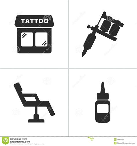 tattoo icons stock vector image of knuckle black parts