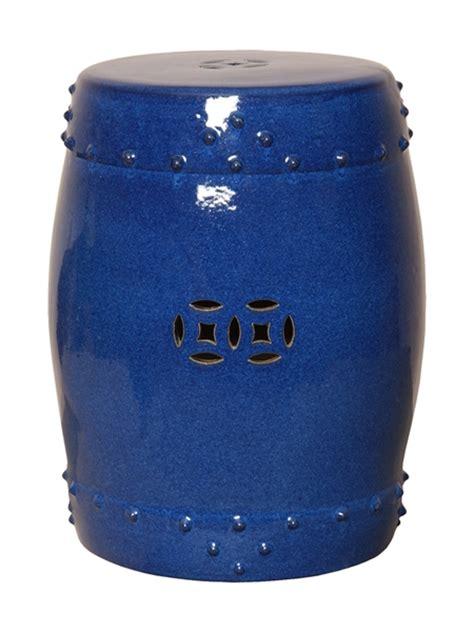 Garden Drum Stool by Emissary 1255bl Drum Garden Stool Blue Large