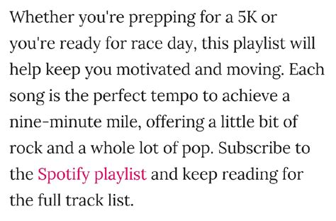 To 5k Playlist by Your 5k Playlist For A 9 Minute Mile Trusper