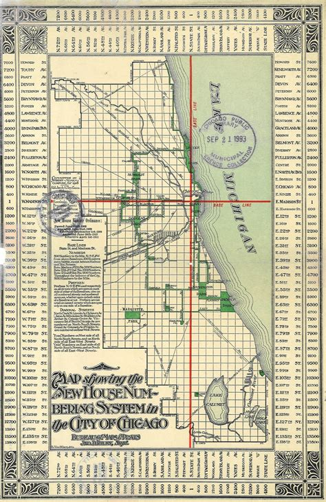 chicago map grid not lost thank edward brennan chicago library