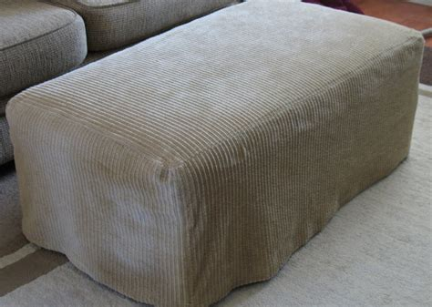 How To Make An Ottoman Slipcover Ottoman Slipcover Tutorial Sew Much Ado