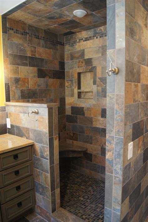 open showers open shower bathroom remodel pinterest
