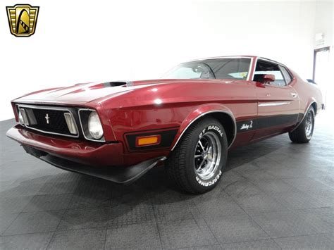 Mach 1 Mustang Automatic by 1973 Ford Mustang Mach 1 93325 Burgundy Coupe 429