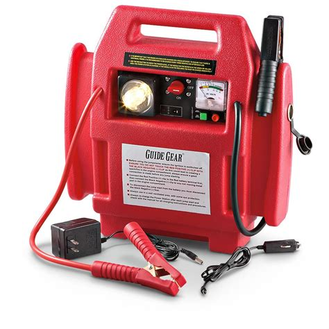 guide gear 174 jumpstarter with air compressor 203749 chargers jump starters at sportsman s guide