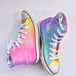 Green Home Floor Plans pastel rainbow high top converse tie dye idolza