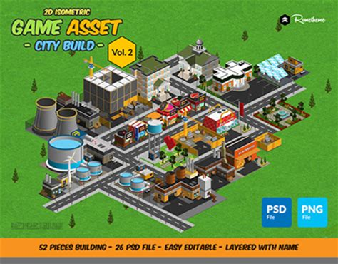 game design network 2d isometric game asset city build vol 2 on behance