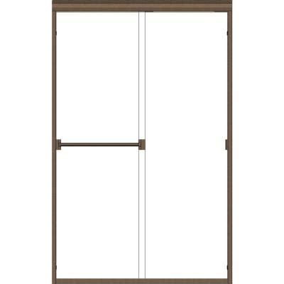 rubbed bronze shower door frame basco classic 56 in x 70 in semi framed sliding shower