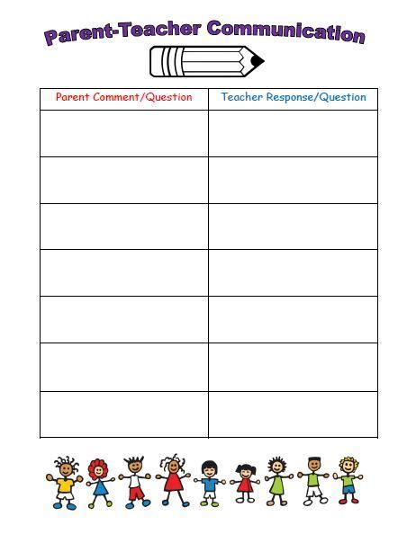Mrs Bumgardner S Kindergarten Parent Teacher Communication Parent Communication Templates