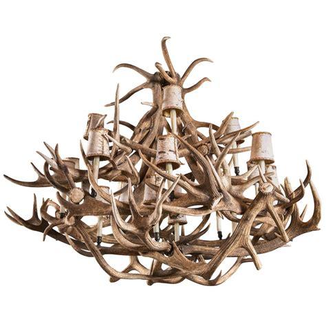 Elk Antler Chandeliers For Sale Eighteen Light Elk Antler Chandelier For Sale At 1stdibs