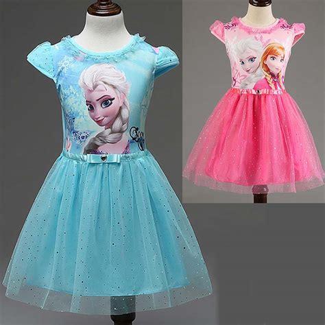 Dress Elsa New T1310 new summer children s clothing dresses elsa princess dress for infant costume