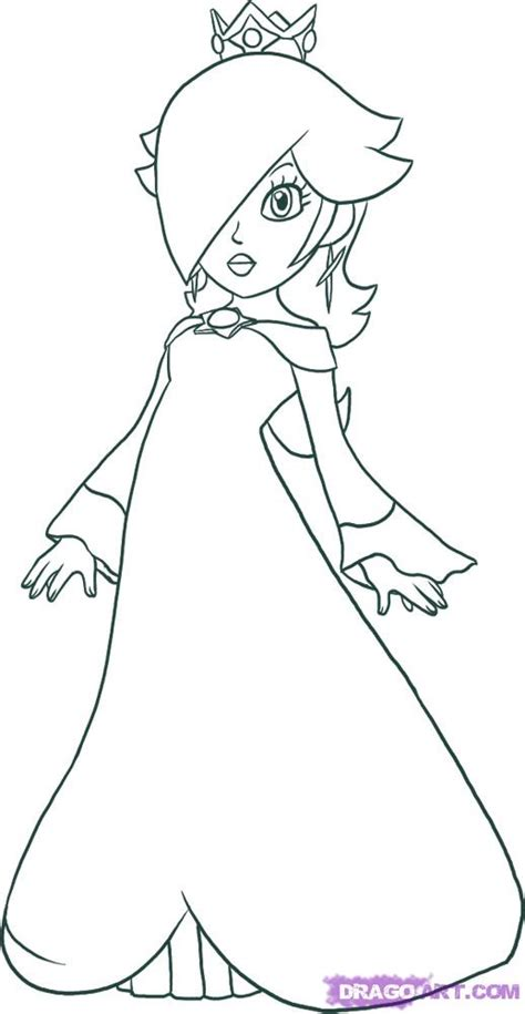 easy mario coloring pages how to draw rosalina doodles pinterest doodles