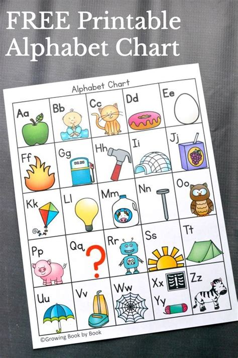 printable alphabet and number chart 419 best images about alphabet activities on pinterest