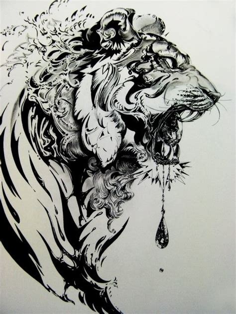 lost tiger tattoo amazing black and white tiger sketch wow the lifestyle
