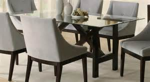 Glass Dining Table Chairs Glass Dining Table Rectangle Home Design