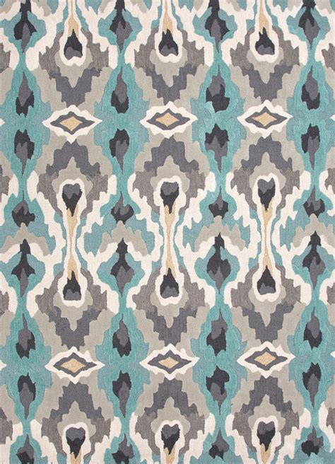 tribal print rugs transitional tribal pattern blue polyester tufted rug contemporary area rugs by indeed decor