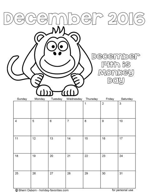 printable december calendar pages holiday favorites