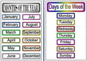 34 best images about days months and seasons on pinterest