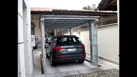 box mobili per auto affordable ascensore per auto con tetto di copertura green